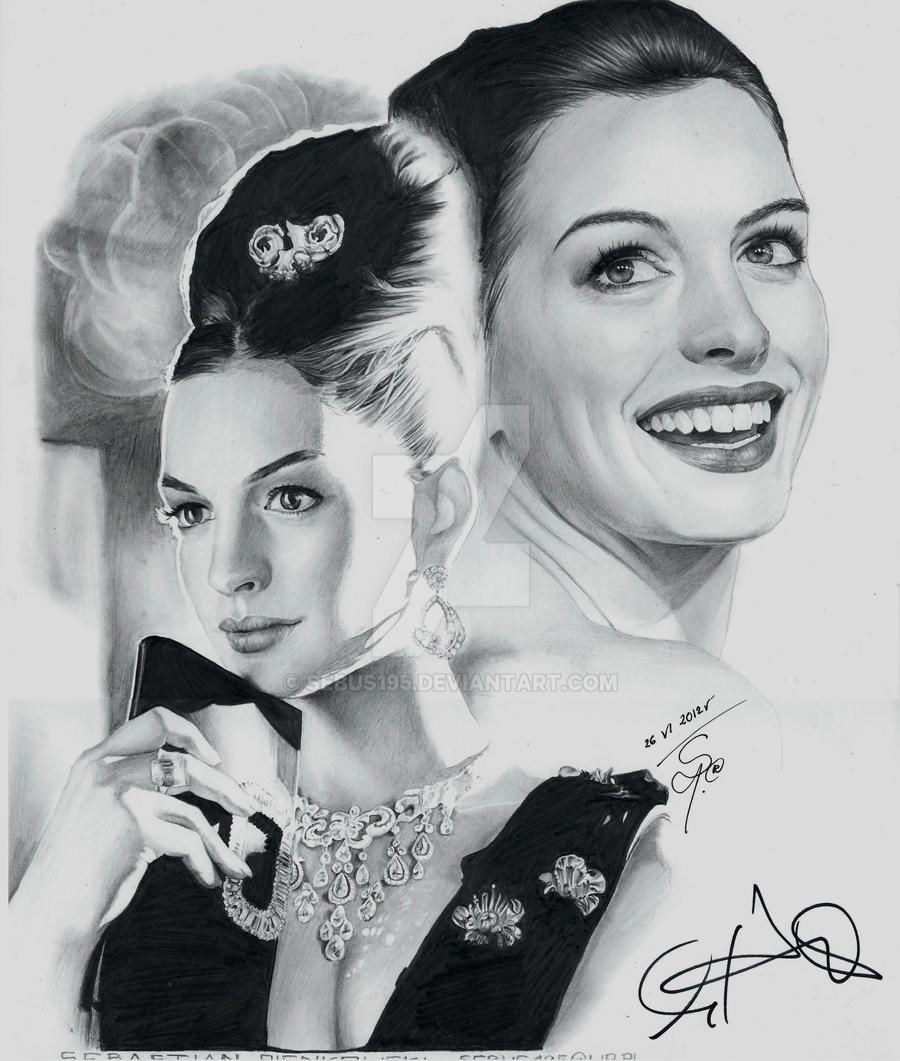 Anne Hathaway - Audrey Hepburn by sebus195
