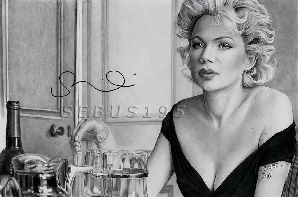 Michelle Williams as Marilyn Monroe by sebus195