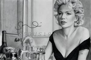 Michelle Williams as Marilyn Monroe by sebus195