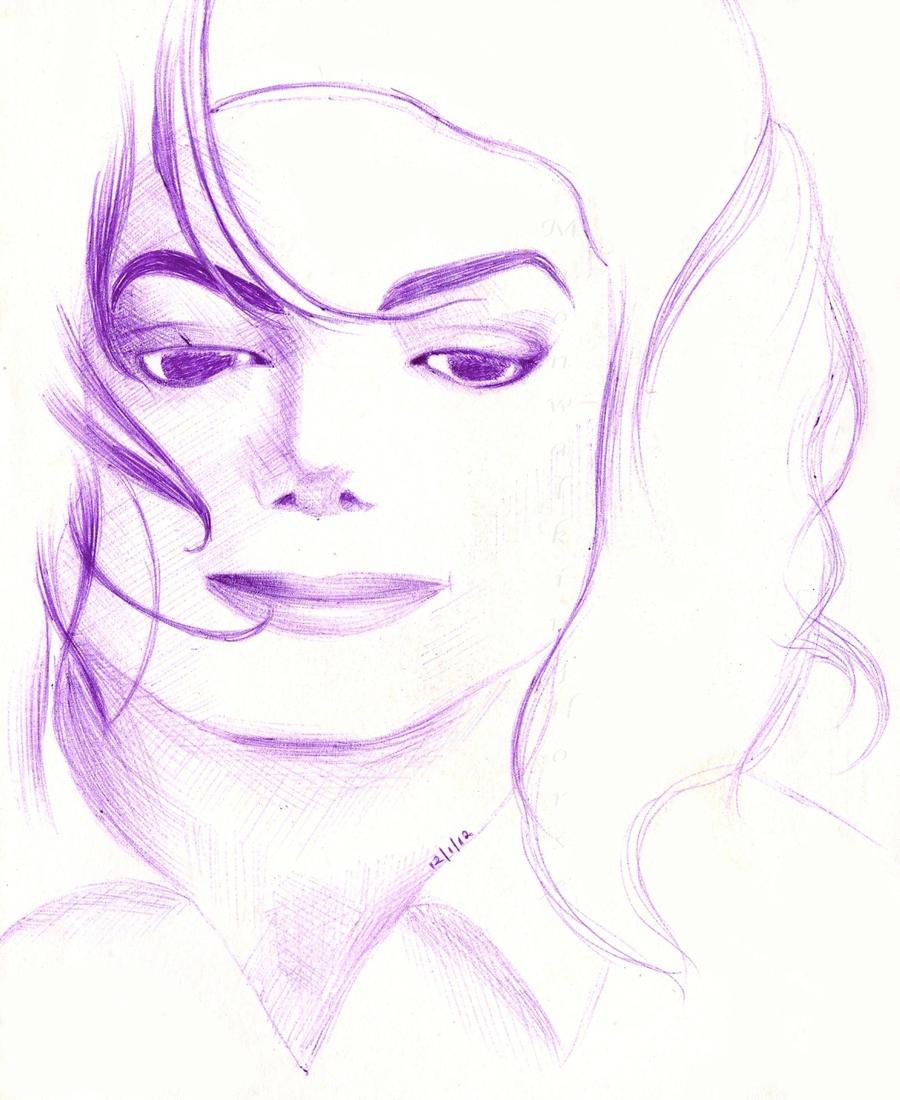 M J Sketch Images Purple MJ Sketch by