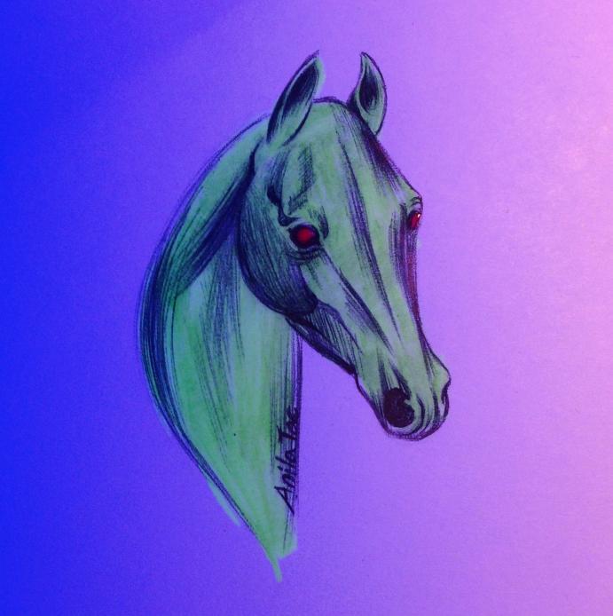 Daily Doodle#23: Alien Horse! by MoonwalkingHorse