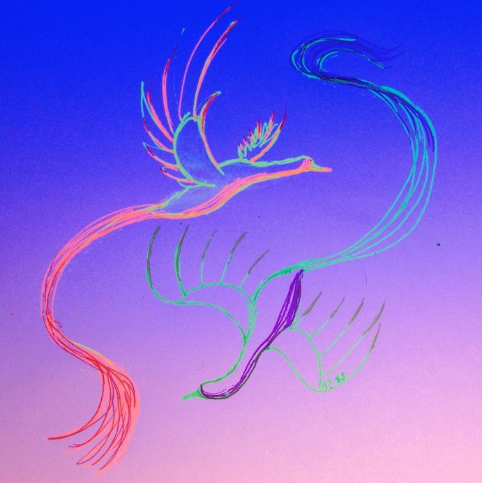 Daily Doodle #45: Birdies by MoonwalkingHorse