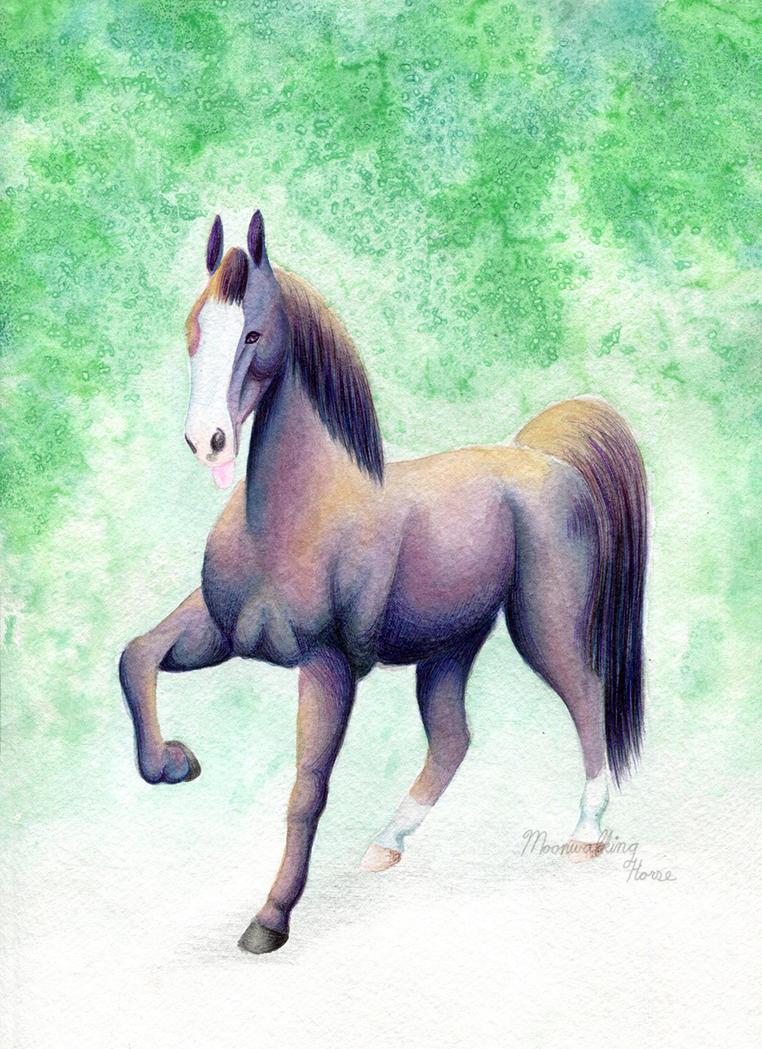 Commission: Ty, Iridescent Black Horse by MoonwalkingHorse