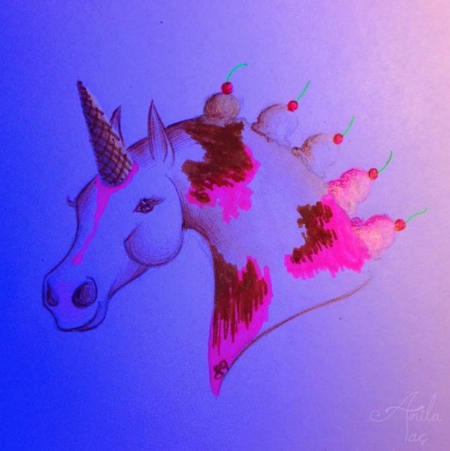 Daily Doodle #89: Ice Cream Horse by MoonwalkingHorse