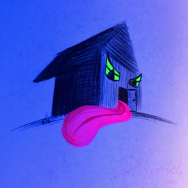 Daily Doodle #105: Haunted House by MoonwalkingHorse