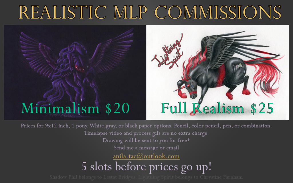Open!~Realistic MLP Commission Info