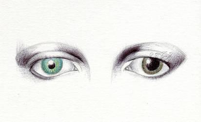 David Bowie Eyes (w/ tutorial video)
