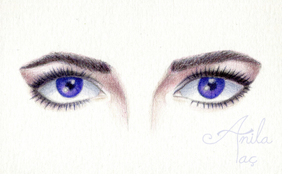 Elizabeth Taylor Violet Eyes (w/ time lapse video)
