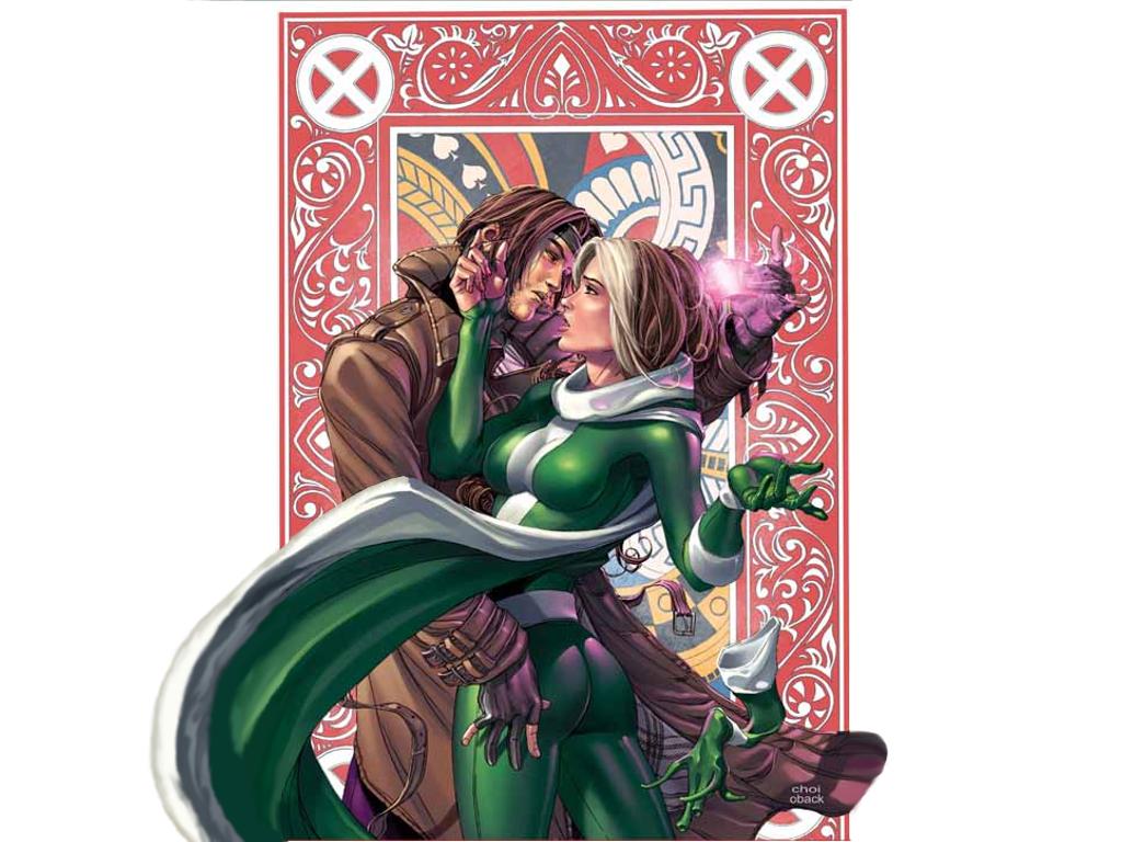 Rogue and Gambit by AmeSabishii