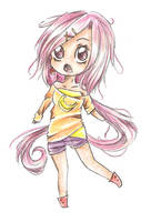 Chibi Pink Banana by cocolimes