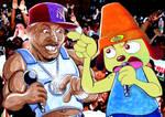 50 Cent VS Parappa the Rapper