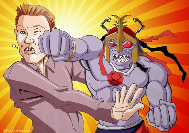 Ryan Seacrest vs Mumm-Ra by GabeLamberty