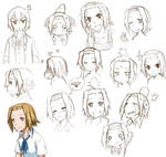 Ritsu's different faces