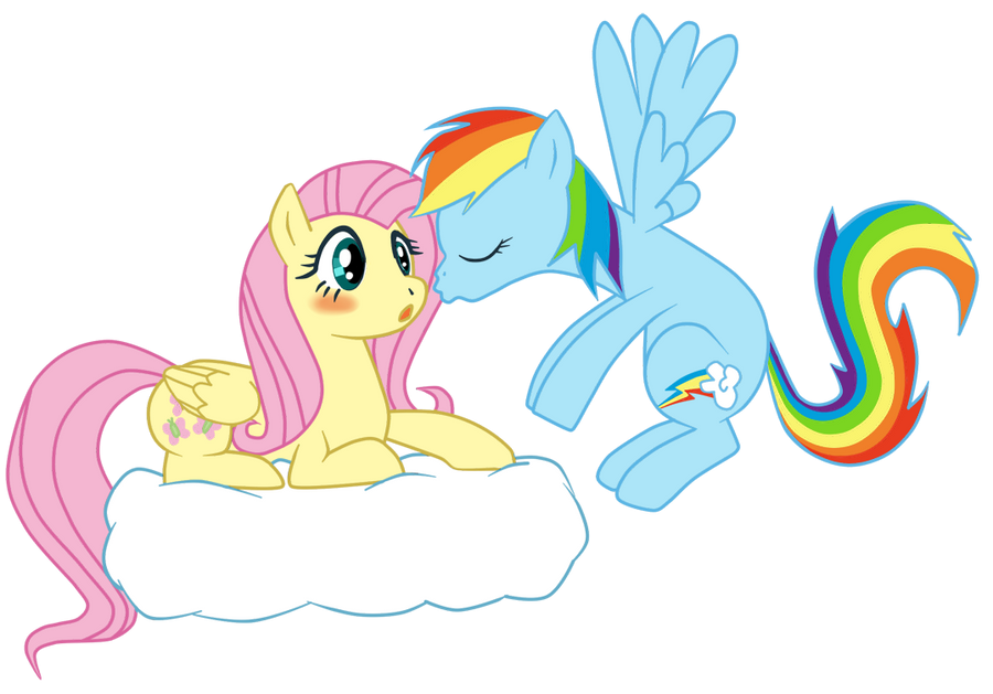 Fluttershy and Rainbow Dash by DAgilityRei