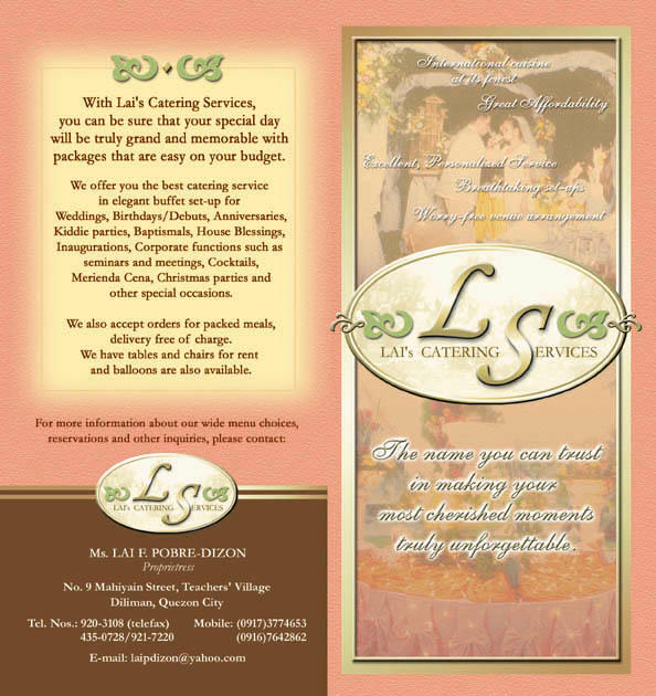 CATERING COMPANY BROCHURE by mixingplate on DeviantArt