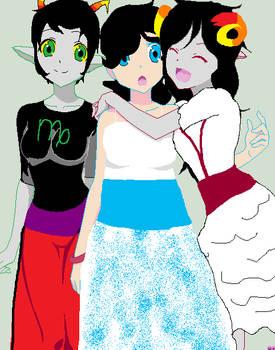 Kanaya, Erica and Aradia??