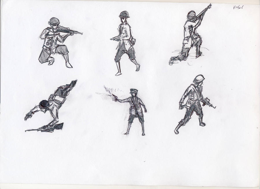 soldier sketches by Sashiri