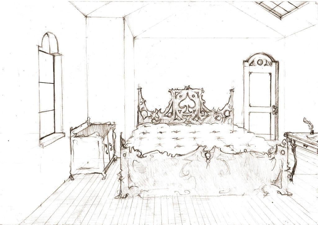 room sketch by sashiri on deviantart