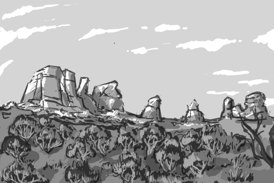 Desert scene by Sashiri