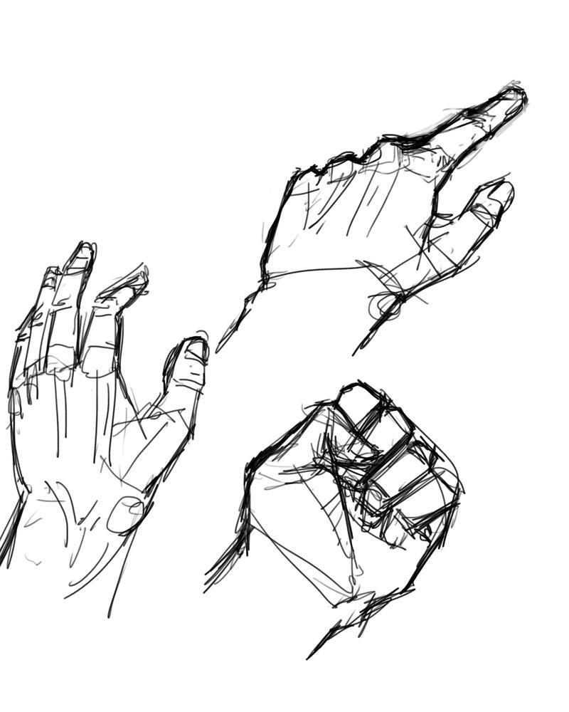 Hand Study by Sashiri