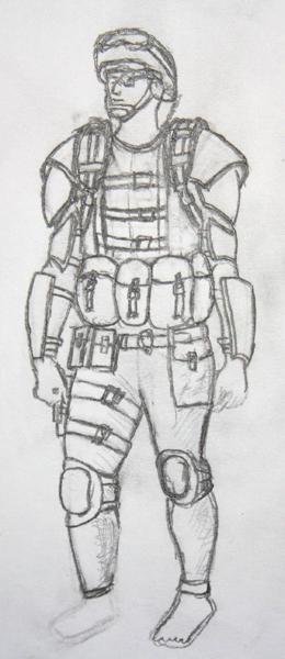 a futerish soldier