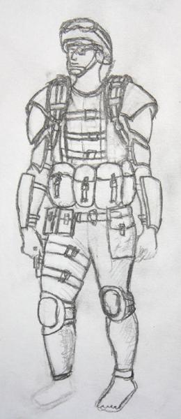 a futerish soldier by jasonshawcross