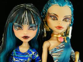 Cleo and Nefera by EngelMech