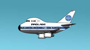 747 Cartoon Pan Am