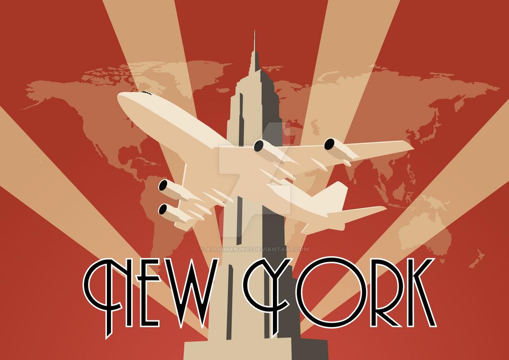 Art Deco Poster New York.Art Deco New York 2 0 By Audoman2607 On Deviantart