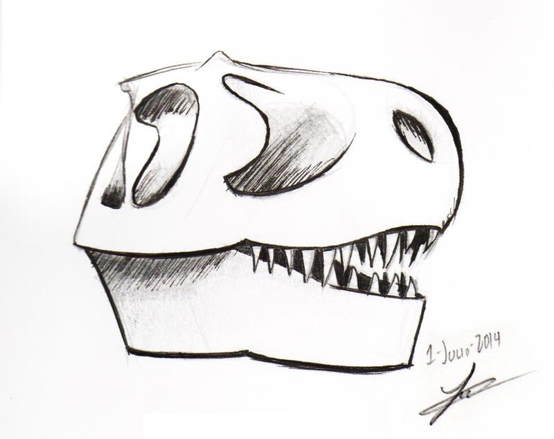 Rex skull by audoman2607