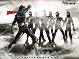 Cyborg hongo vs Shocker riders by RAMAHYDE