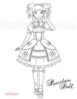 Porcelain Doll by Bon-Bon-Bunny