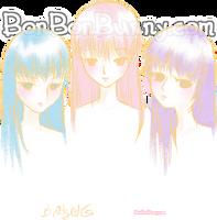 Pastel Girls by Bon-Bon-Bunny