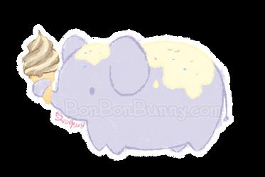 Ice Cream Elephant by Bon-Bon-Bunny