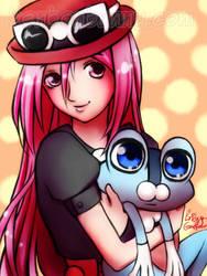 Pokemon Manager Momoi wants to battle! by Bon-Bon-Bunny
