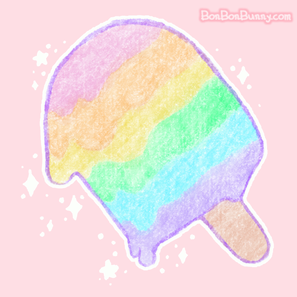Pastel Rainbow Melty Popsicle by Bon-Bon-Bunny