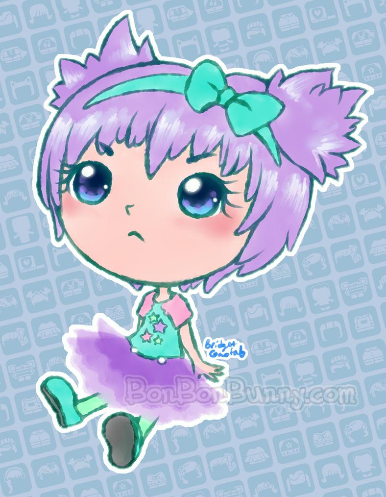 My Mini MixieQ Doll Purple Tutu by Bon-Bon-Bunny