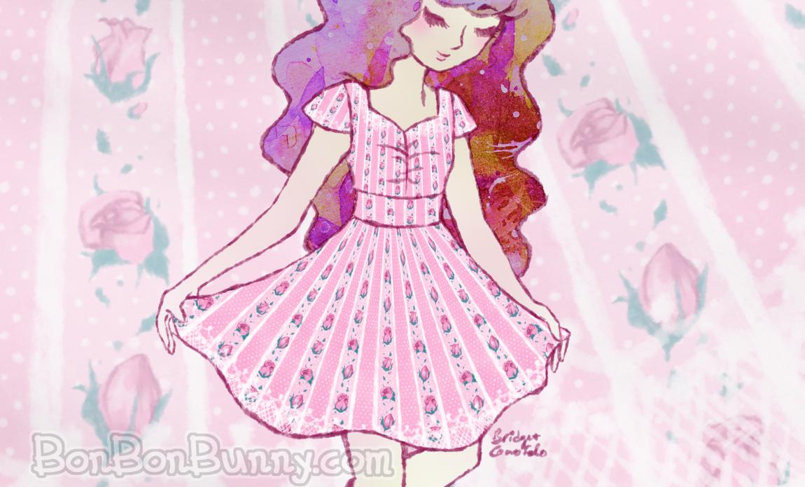 (Preorders Open!) Rosebud Stripe Princess Dress by Bon-Bon-Bunny