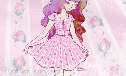 (Preorders Open!) Rosebud Stripe Princess Dress by Bon-Bon-Bunny