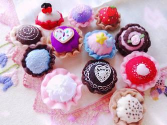 Handmade Felt Plush Sweets by Bon-Bon-Bunny