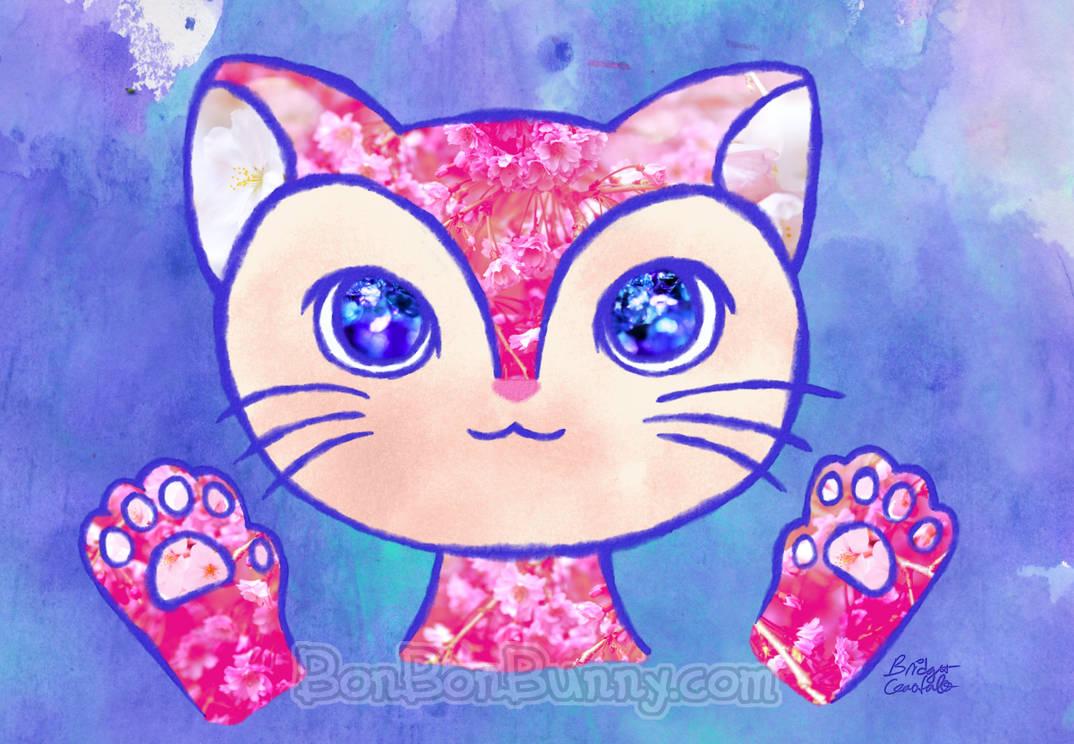 Flower Cat by Bon-Bon-Bunny