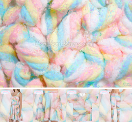 Pastel Marshmallows Painting + Clothing by Bon-Bon-Bunny