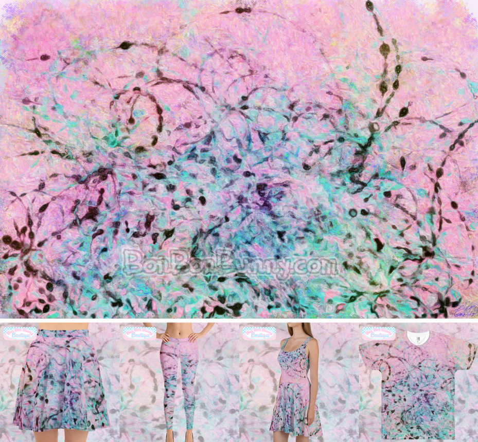 Abstract 'Pink and Ink' Painting + Clothing by Bon-Bon-Bunny