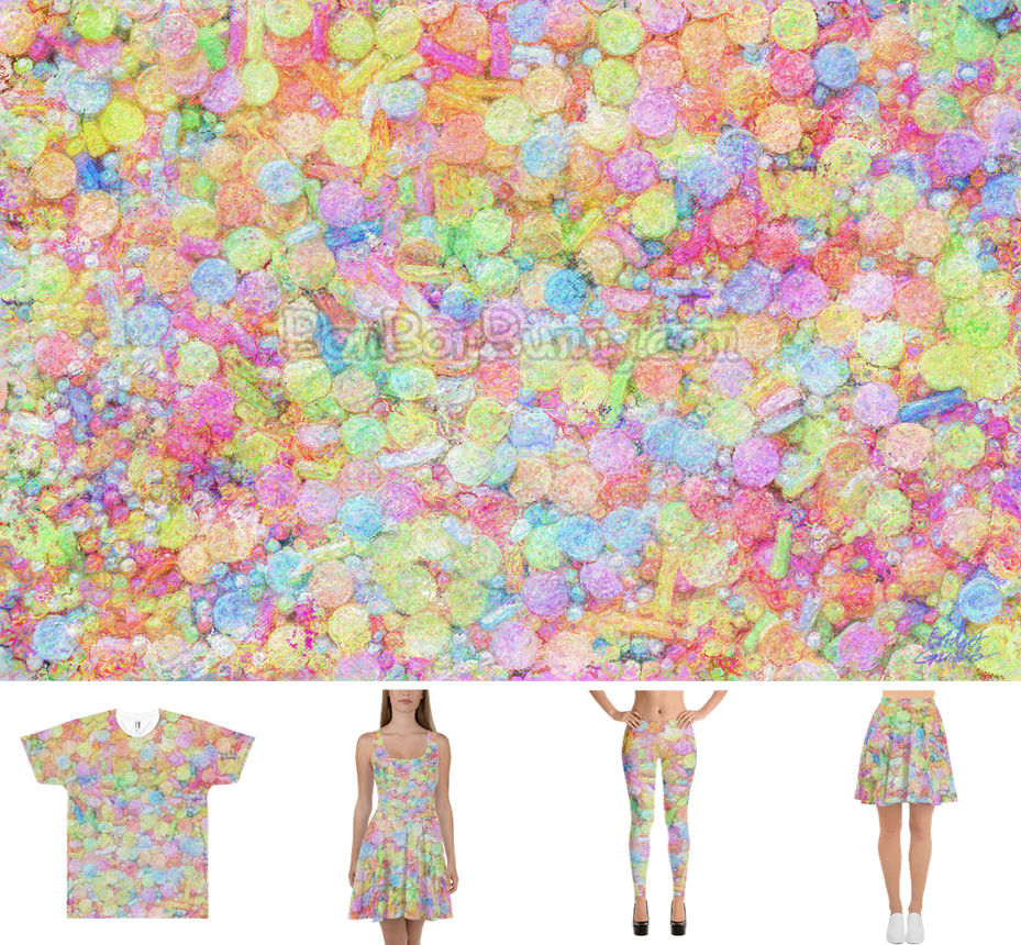 Pastel Rainbow Sprinkles All Over Painting + Merch by Bon-Bon-Bunny