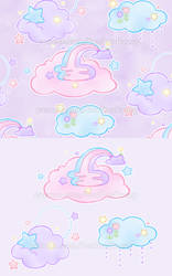 Pastel Dreamy Clouds FABRIC and more!