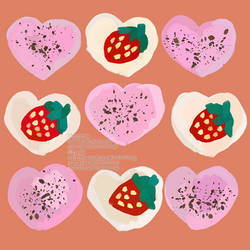 Pink Chocolate n Vanilla Strawberry Heart Cookies