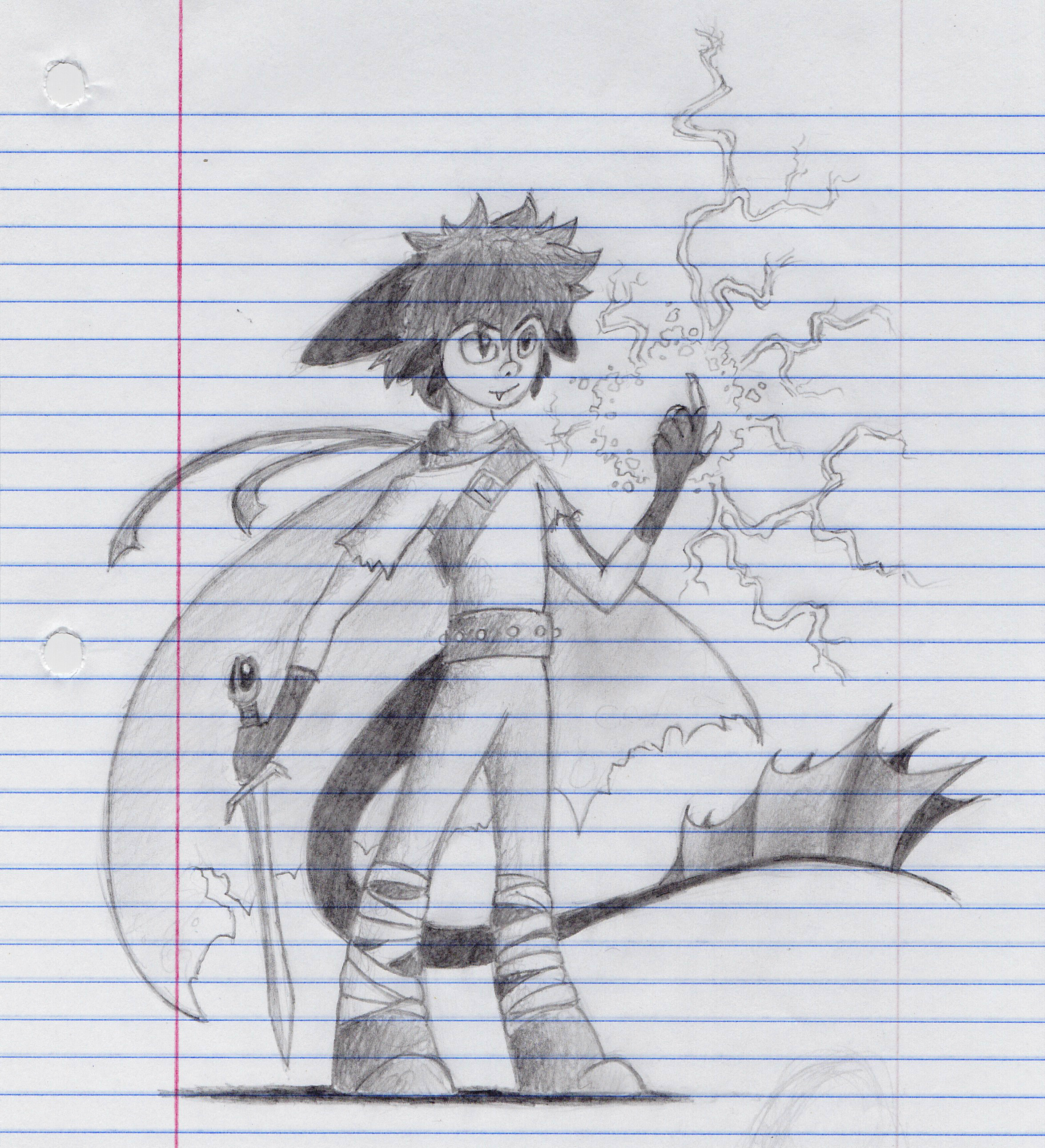 Toothless the Lightning Mage--Four Elements AU by