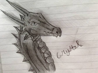 Dragon Head: Side View, Shaded by CrystalMoonGazer