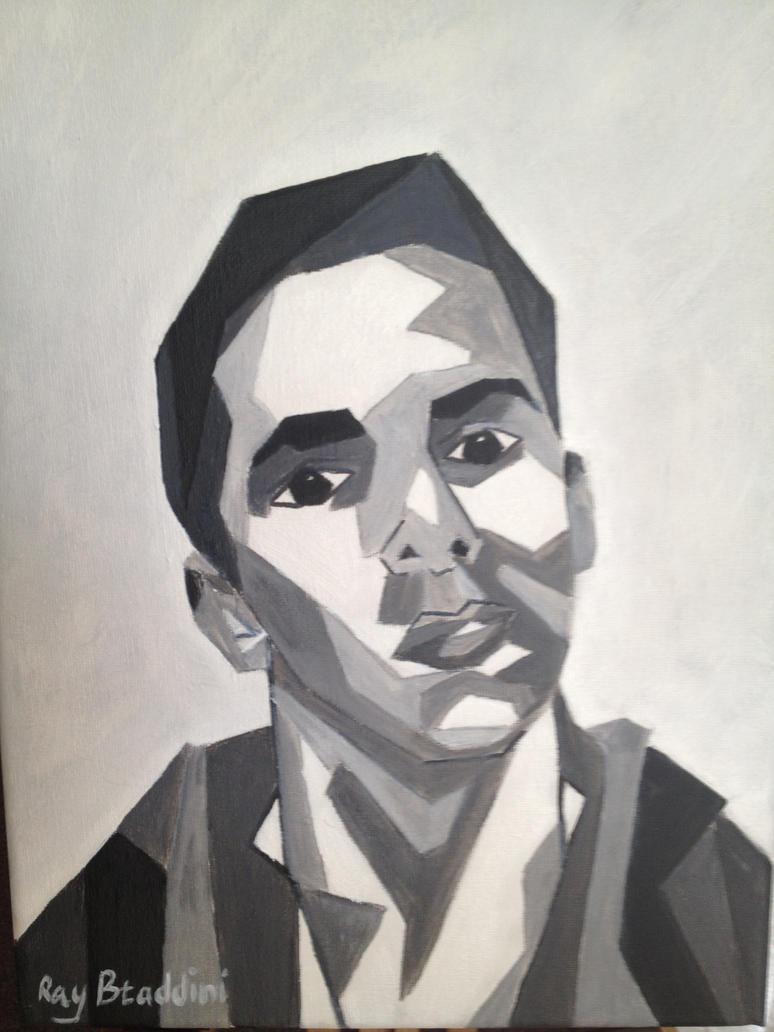 cubism self portrait by Ray-Btaddini