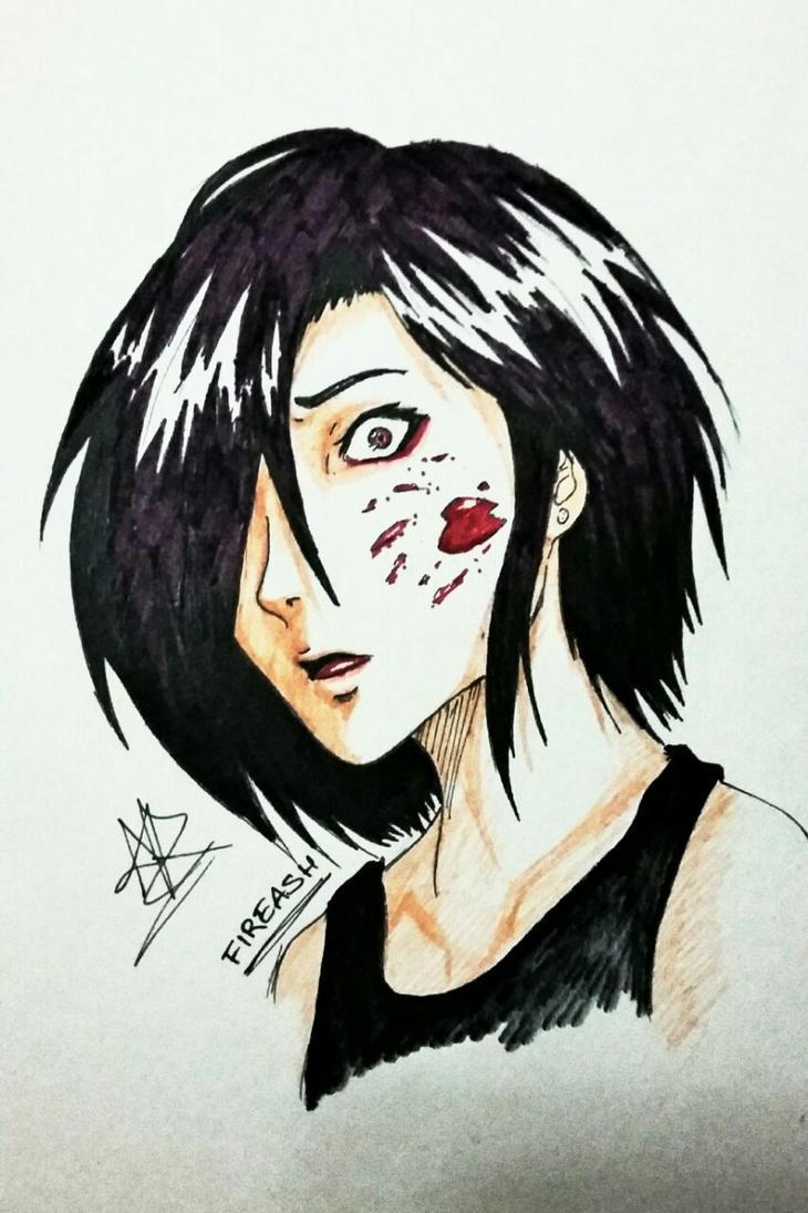 AT: Blood splatter girl something by FireAsh1000